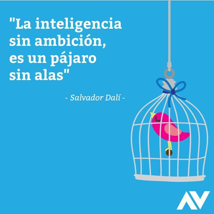 ... La inteligencia sin ambición, es un pájaro sin alas. Salvador Dalí.