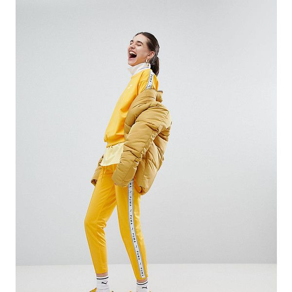 676d7d2e376d7 Puma Exclusive To ASOS Taped Side Stripe Track Pants In Yellow (€56 ...