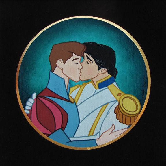 And They Lived Happily Ever After (Princes) by José Rodolfo Loaiza Ontiveros, Acrylic on canvas : Gay, Art, Disney Princes, Loaiza Ontiveros, Rodolfo Loaiza, Twisted Disney, Disney Characters, Jose Rodolfo