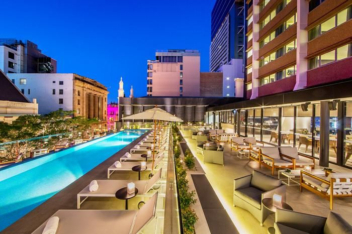 Lennons Pool Terrace - Because life somehow looks and feels more magical by the pool, hang out with friends for a lazy brunch, cocktails or that special celebration. NEXT Hotel. 72 Queen Street, Brisbane.