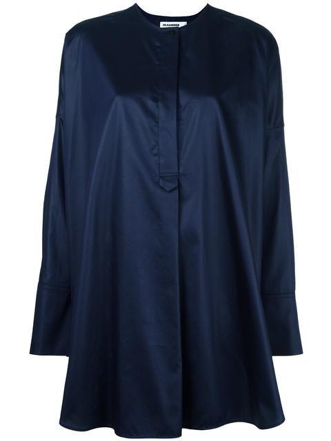 JIL SANDER oversize grandad shirt. #jilsander #cloth #shirt