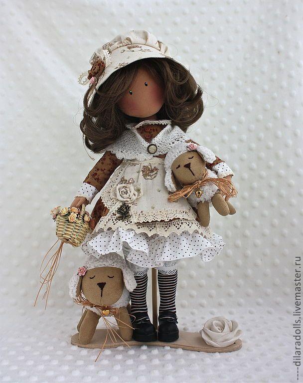 Коллекционные куклы ручной работы. Ярмарка Мастеров - ручная работа текстильная кукла ЭММИ. Handmade.