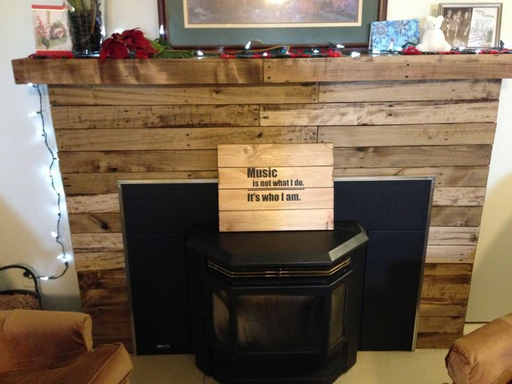 Homemade Faux Fireplace Fireplace Mantel Made From Pallet Wood Faux Fireplace Diy And Ideas