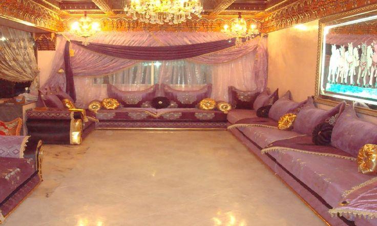 Salon Marocain Traditionnel (Mauve et touche de Doré) de Hasnae ...