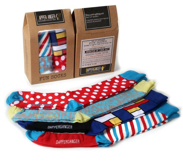 If you are looking for really cool mens color socks that make a great gift for men, especially for fathers day gifts, men's gifts, groomsmen gifts. This 4 pack of men's crazy socks make a great gift for your guy.