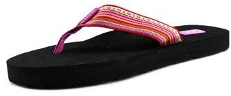 Teva W Mush Ii Women Open Toe Canvas Multi Color Flip Flop Sandal.