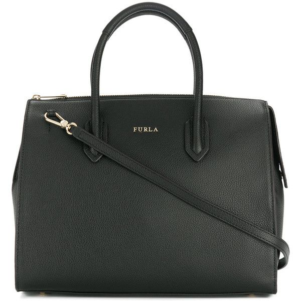 Furla Pin satchel bag (€265) ❤ liked on Polyvore featuring bags, handbags, black, handbag purse, furla purses, furla handbags, hand bags and leather man bags