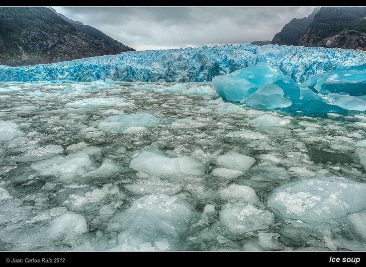 Laguna San Rafael, Chile Ice soup (by Juan C Ruiz)