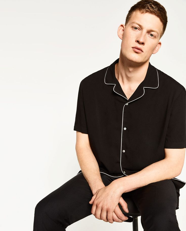 ZARA - HOMME - CHEMISE BOWLING COUPE SLIM