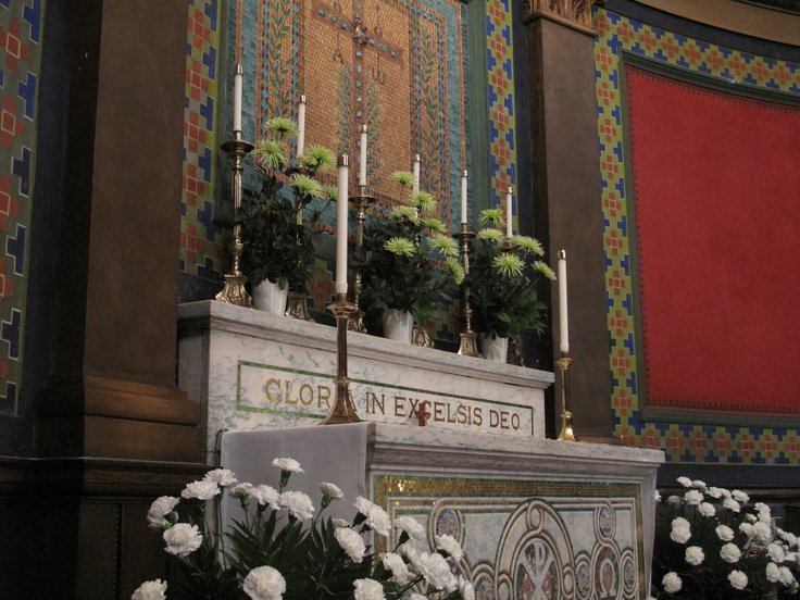 The altar at St. Mark's Lutheran Church, Baltimore