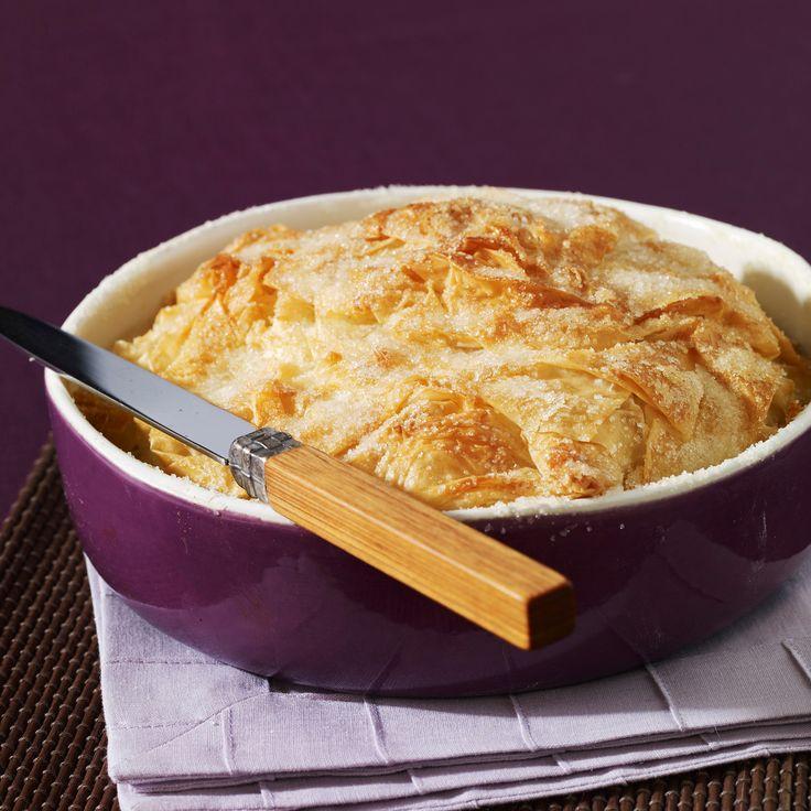 Découvrez la recette croustade aux pommes sur cuisineactuelle.fr.
