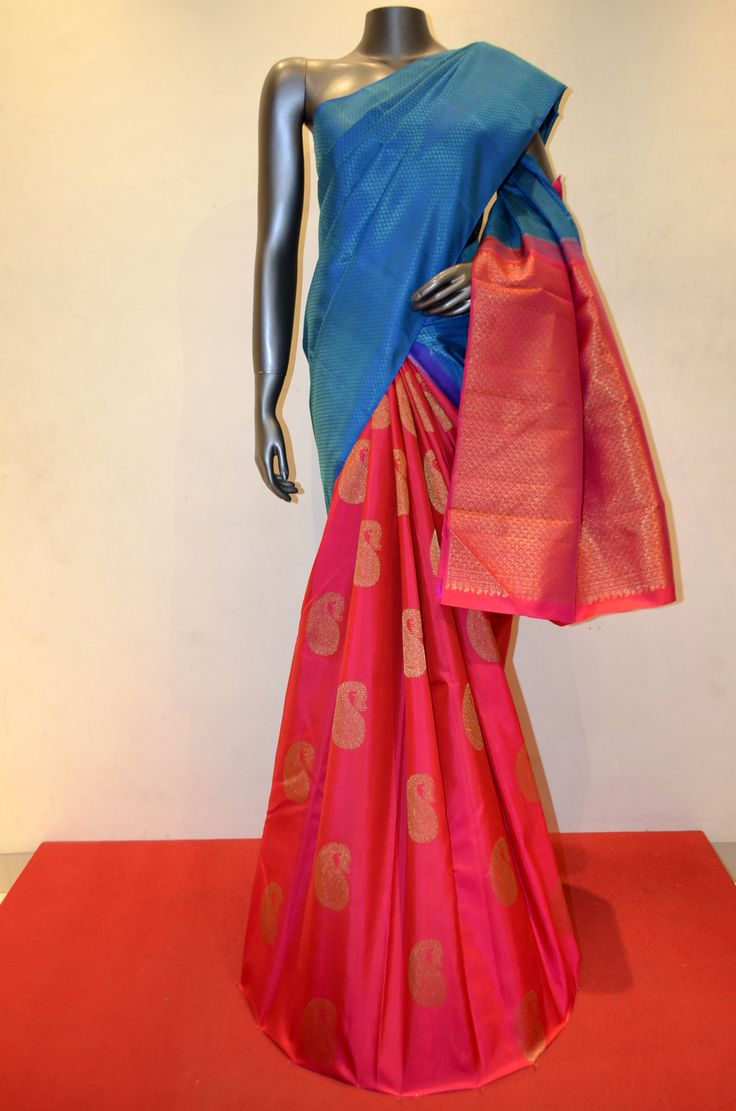 Classic Patli Kanjeevaram Silk Saree Product Code: AC200314 Online Shopping: http://www.janardhanasilk.com/index.php?route=product/product&search=AC200314&description=true&product_id=4495