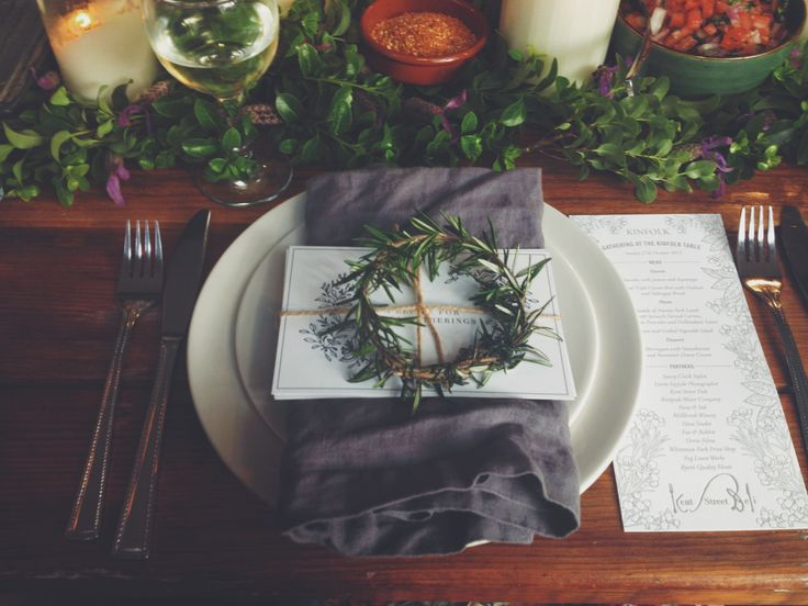 pretty table setting from the Perth kinfolk gathering | styling by Stacey Clark Stylist