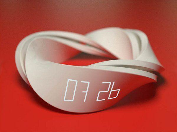 部屋に置きたい時計。メビウスの輪の参考に