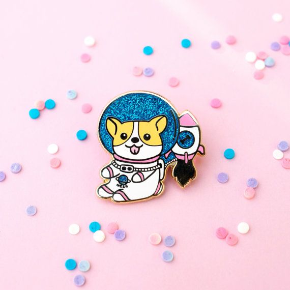 Hey, I found this really awesome Etsy listing at https://www.etsy.com/listing/482048300/space-corgi-pin-enamel-pin-lapel-pin