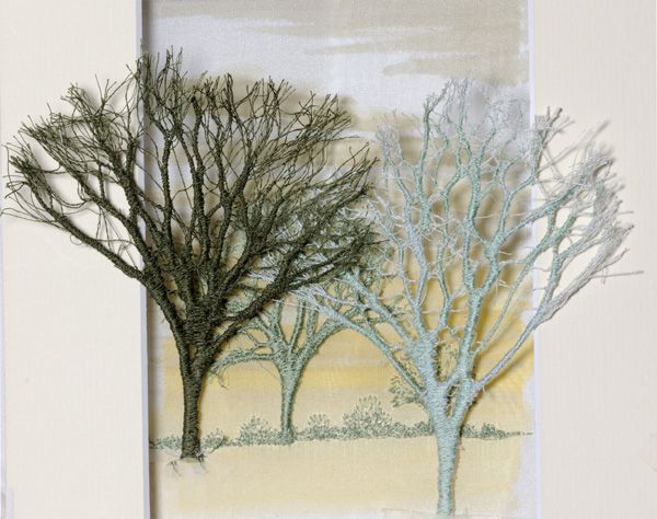 Machine embroidered tree - Alison Holt