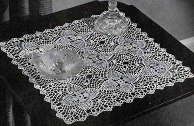 Pineapple Night Table Doily Pattern No. 7868