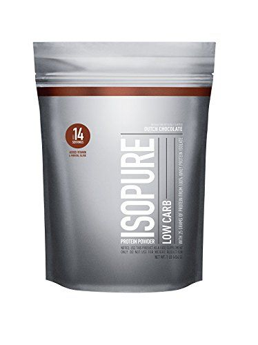 Isopure Low Carb Protein Powder, 100% Whey Protein Isolate, Keto Friendly, Flavor: Dutch Chocolate, 1 Pound (Packaging May Vary)