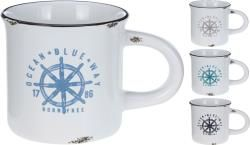 Mug dolomite Antique finish, sailor decal, 4asst. color, 135x85mm