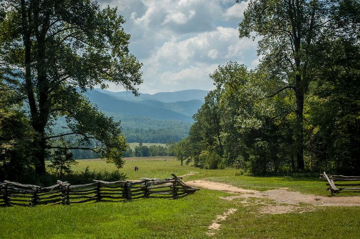 Cades Cove is one of our favorite places to view the mountains.