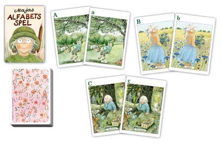 Lär dig bokstäverna på ett roligt sätt. Majas alfabetsspel och många andra spel att ge bort i julklapp hittar du hos www.barabokstaver.se