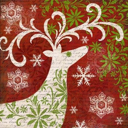 Christmas Deer Silhuette-4 by Elena Vladykina | Ruth Levison Design