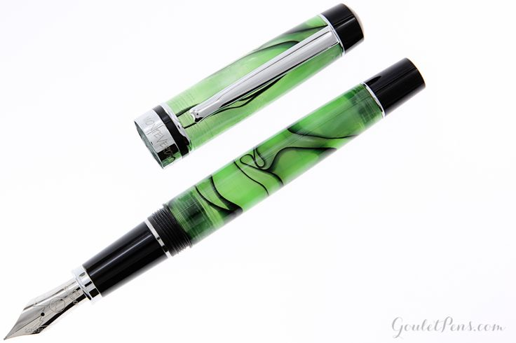 Fountain Pens | Monteverde Prima - Green Swirl | GouletPens.com
