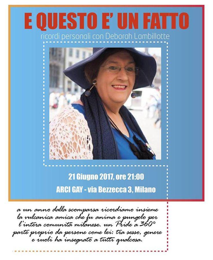 A un anno dalla sua scomparsa, ricordiamo insieme la vulcanica amica che fu anima e pungolo per l'intera comunità LGBT milanese. Un Pride a 360° parte proprio da persone come lei: tra sesso, genere e ruoli ha insegnato a tutt* qualcosa.