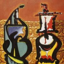 """Felicísimo encuentro"" (1981) Eugenio Fernández Granell."