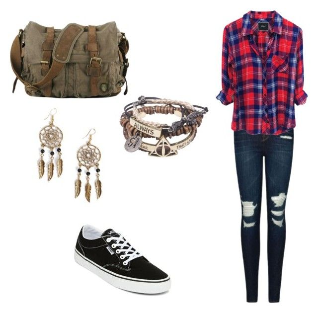 """Sans titre #21"" by dobrodod on Polyvore featuring mode, J Brand, Vans et Boohoo"
