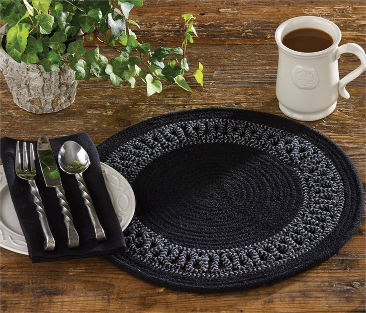 The Country Porch Home Decor Features Circle Loop Braid Placemat From Park  Designs