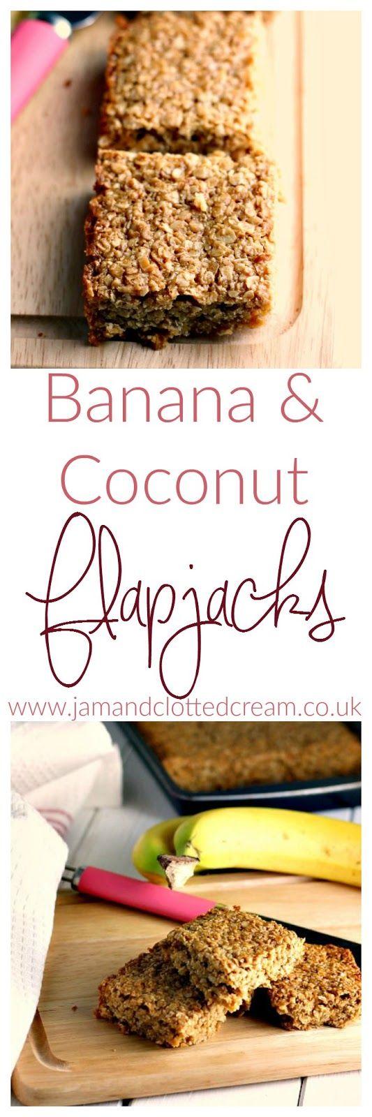 Banana and Coconut Flapjacks
