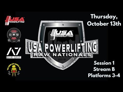 US Sports Marketing Presents - [Live Powerlifting] Thursday 1B - 2016 USA Powerlifting Raw Nationals - IBOtube