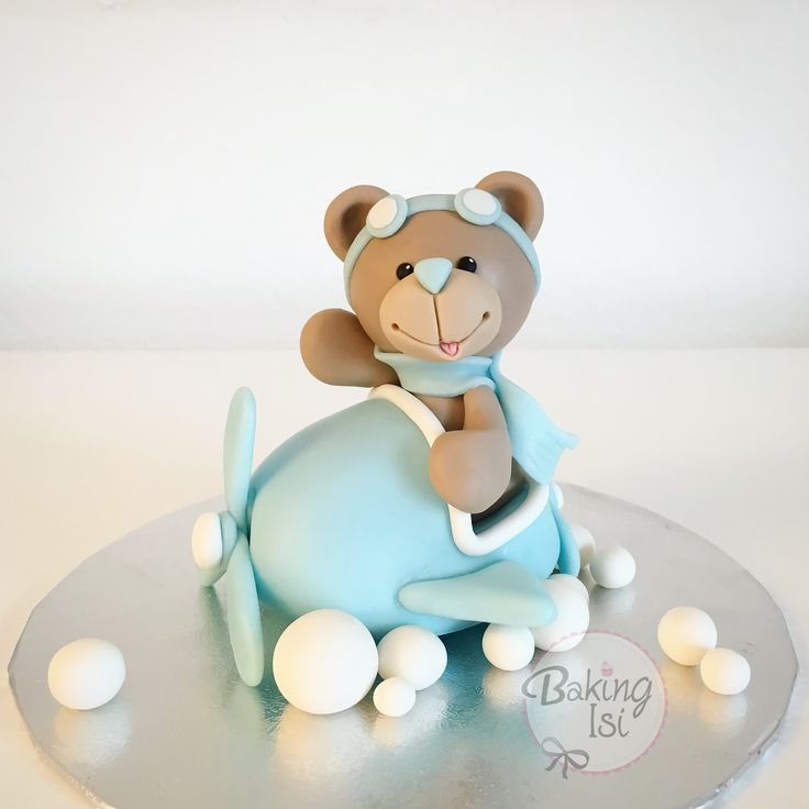 how to make fondant teddy bear cake topper