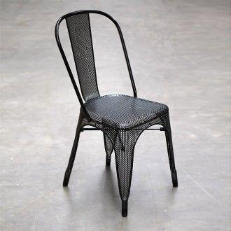 Black Mesh Metal Chair
