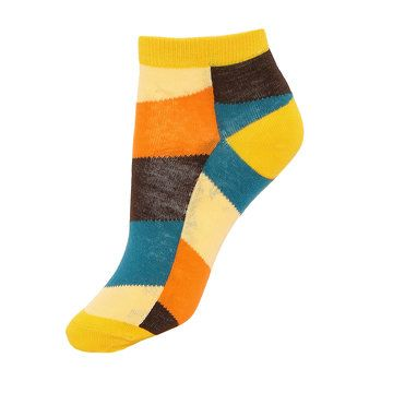 Colorblock Ribbed Ankle Socks with Yellow Cuffs #fashionismypassion