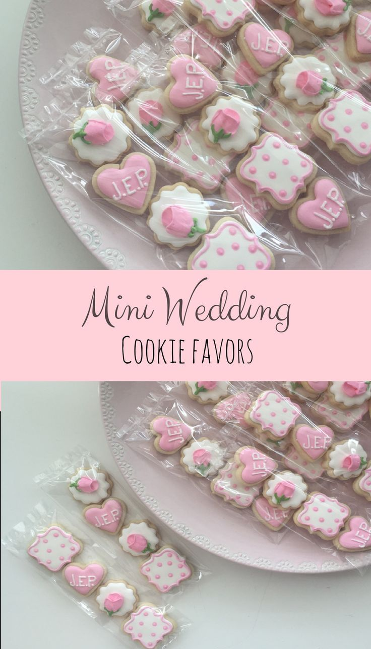Wedding Cookies, Mini Cookies, Shower Cookies, Wedding Favors, Shower Favors, Girly Cookies, Birthday Cookies, Party Favors, Treat Bags #affiliate