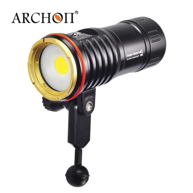 349.57$  Buy here  - Archon DM10 WM16 Diving Video FlashLight 2700lm COB LED 100m waterproof underwater video taking torch with battery and charger
