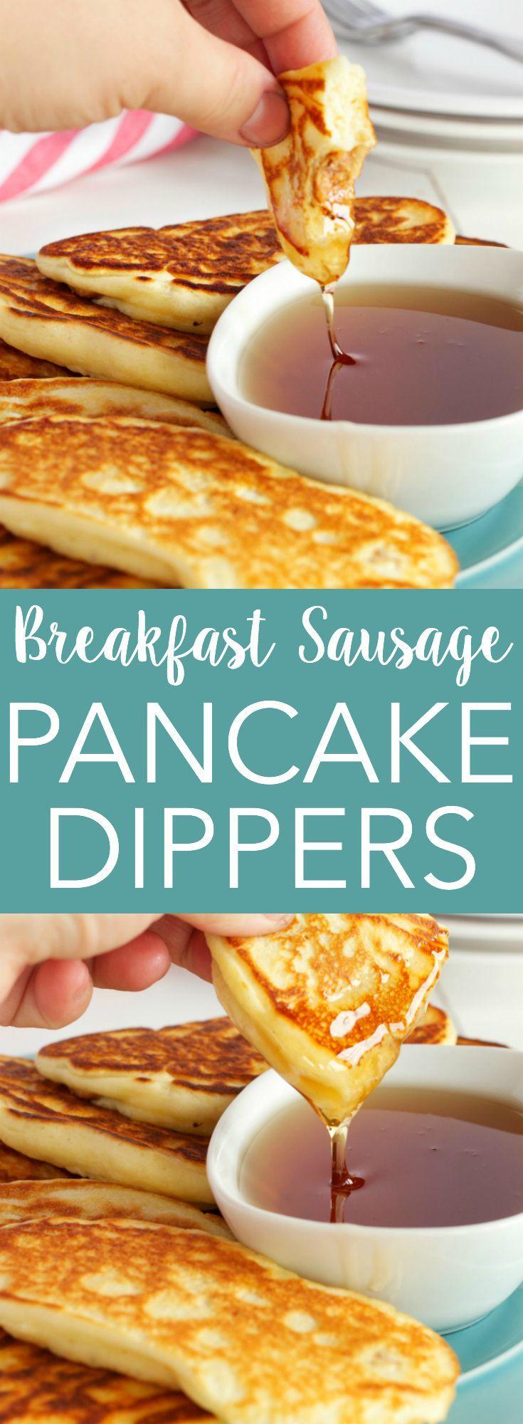 Breakfast Sausage Pancake Dippers Finger FoodsPerfect BreakfastBreakfast IdeasBreakfast RecipesBreakfast