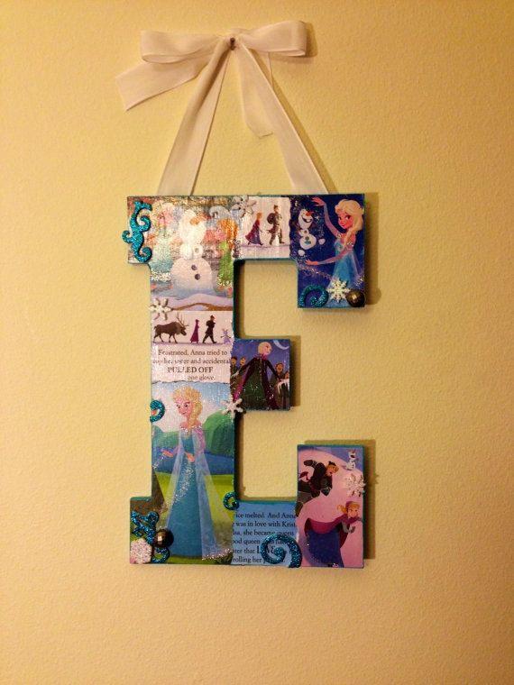 Letter E Any Theme Disney wooden letter 11 by SpikaInteriors