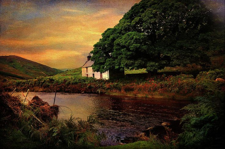 Sunset At Lake. Rural Ireland. Wicklow Photograph by Jenny Rainbow