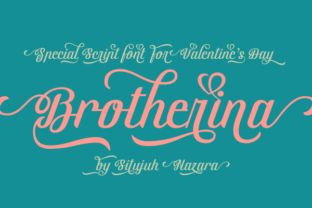 http://Brotherina is a stunning elegant font created by Situjuh Nazara.