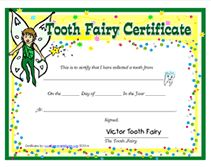 printable boy tooth fairy certificate