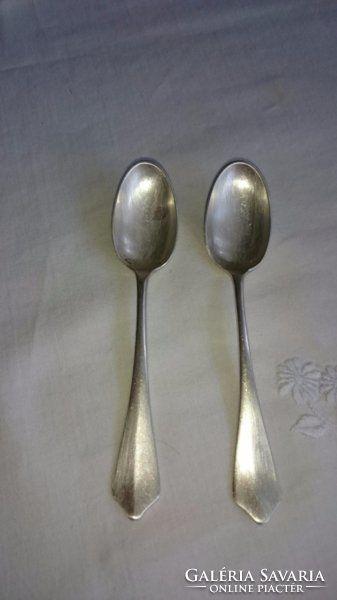 2 db jópofa régi ezüst kis mokkáskanál
