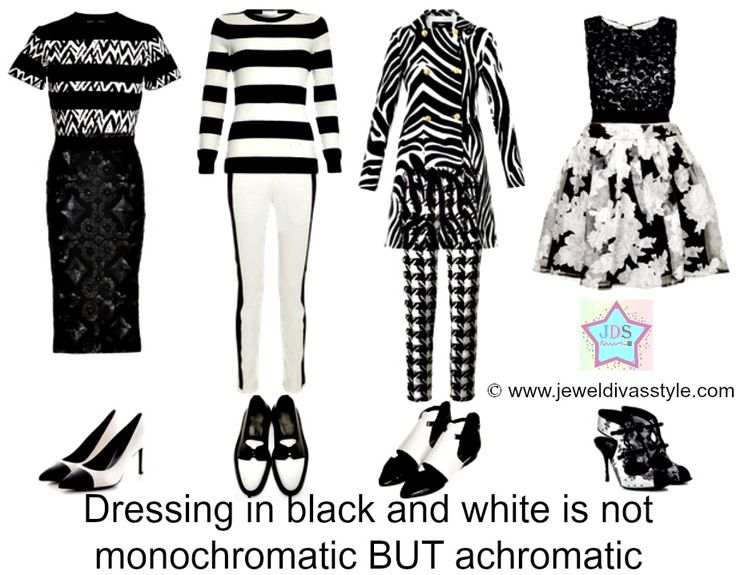 JDS - FASHION STYLE: Black and White is NOT Monochromatic! -http://jeweldivasstyle.com/fashion-style-black-and-white-is-not-monochromatic/