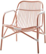 Cane Lounge Chair Soft Coral