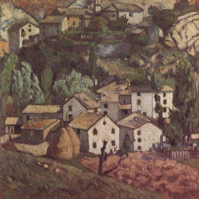 """Ardengo Soffici (Italian, 1879-1964) - """"Savignone (Il Savignone)"""", 1909 - Oil on canvas"""
