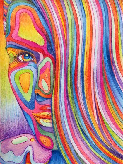 Maak een portret van jezelf of een ander (foto overtrekken mag) en geef deze zoveel mogelijk kleur met potlood.