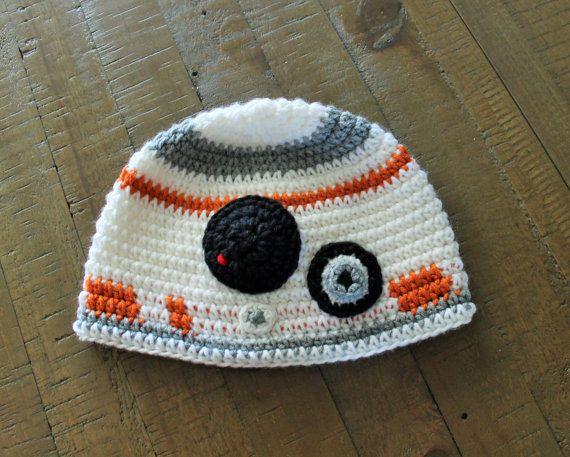 Star Wars la fuerza despierta droide sombrero - BB8 - hecho a mano a pedido - recién nacido al adulto