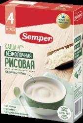 Сэмпер каша безмолочная рисовая с 4 мес 180г  — 251р. ---------- О продукте:  Рис - гипоаллергенный злак, поэтому рисовая безмолочная каша Semper прекрасно подойдет в качестве безопасного первого прикорма для малышей с 4 месяцев. 100% рис, без глютена, без молока, без сахара, никаких лишних ингредиентов, только его натуральная природная польза. Специально для самых маленьких.     Состав:  Рисовая мука    При разработке детских каш Semper мы старались сохранить всё лучшее, что дала нам…